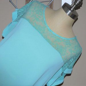 Sweet Lacey Blouse, Large, Junior Loose Fit Top